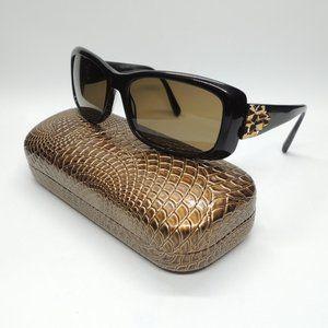 VERA WANG Black w/Gold V252 BK Sunglasses